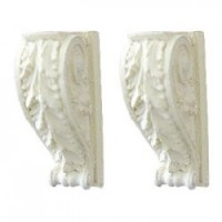 Pair of Scrolled Acanthus Leaf Brackets - Product Image