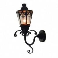 Dollhouse Black Gothic Coach Lamp - Product Image
