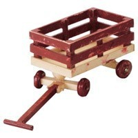 Dollhouse Wooden Wagon - Product Image