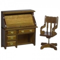 Dollhouse Miniature Desk Set - Product Image