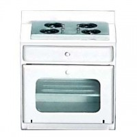 Dollhouse White Stove Clear Oven Door - Product Image