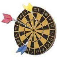 § Sale .20¢ Off - Dollhouse Dart Board Set - Product Image