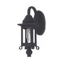 Dollhouse 1 Arm Black Coach Lamp - Product Image