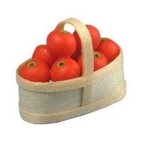 Dollhouse Tomatoes in Basket - Product Image