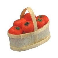 Dollhouse Basket of Red Peppers - Product Image