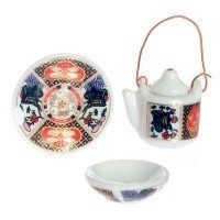 § Disc .60¢ Off - Dollhouse 3 pc Imari Set - Product Image