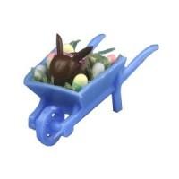 Dollhouse Chocolate Bunny in Wheelbarrow - Product Image