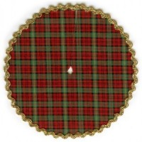 § Disc .60¢ Off - Dollhouse Plaid Tree Skirt - Product Image
