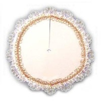 Dollhouse Gold & White Tree Skirt - Product Image