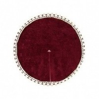 § Sale .60¢ Off - Dollhouse Burgundy Tree Skirt - Product Image