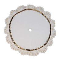 Dollhouse White Velvet Tree Skirt - Product Image