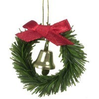 Dollhouse Wreath with Bell - Product Image