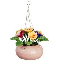 Dollhouse Hanging Multi Colored Pansies - Product Image
