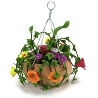 Dollhouse Hanging Mixed Colored Flowers - Product Image