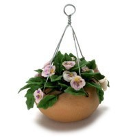 Dollhouse Hanging Pink Pansy - Product Image