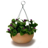 Dollhouse Hanging Purple Flowers - Product Image