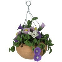 Dollhouse Hanging Mixed Purple Flowers - Product Image