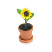 Dollhouse Sunflower In Pot - Product Image