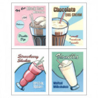 (*) Dollhouse Retro Soda Fountain Poster- Choice of Style - - Product Image