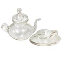 (§) Disc $2 Off - 3 pc Glass Dollhouse Tea Set - Product Image