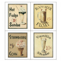 (*) Dollhouse Vintage Soda Fountain Poster- Choice of Style - - Product Image