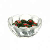 (*) Dollhouse Bowl of Green Olives - Product Image