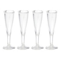 4 Champagne Glasses Fluted - Product Image