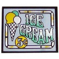 § Disc .60¢ Off - Dollhouse Ice Cream Sign (Mirror) - Product Image
