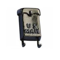 Metal Wall Mailbox w/Paper Holders - Product Image