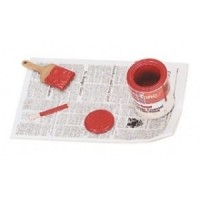 Dollhouse Paint, Stirrer & Brush on Paper - Product Image