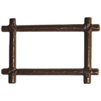 Dollhouse Rectangular Log Frame - Product Image