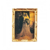 (*) Dollhouse Frame Picture - Wedding Portrait - Product Image