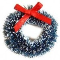(§) Disc. .60¢ Off - Sisal Wreath with Snow - Product Image
