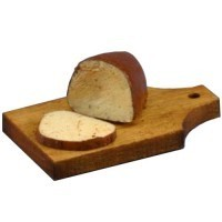 Loaf of Rye Bread on Cutting Board - Product Image