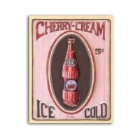 (**) Cherry Cream Soda - Sign - Product Image