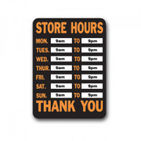 (**) Dollhouse Business Hours - Sign- Choice of Color & Style - - Product Image