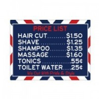 (**) Dollhouse Barber Shop Sign 2 - Product Image