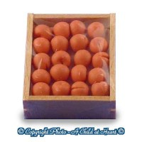 Dollhouse Filled Crate of Apricots - Product Image