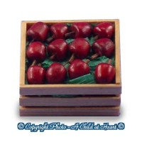 Sale $1 Off - Dollhouse Filled Crate of Apples - Product Image