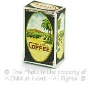 (§) Disc .60¢ Off - Vintage Style Gold Band Coffee Box - Product Image