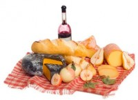 Dollhouse Cheese & Wine Picnic Set - Product Image
