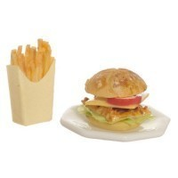 (**) Dollhouse Chicken Sandwich & Fries - Product Image