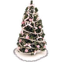 Dollhouse Victorian Christmas Tree- Choice of Color - - Product Image