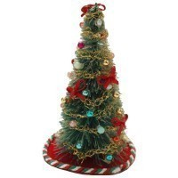 Dollhouse 4 inch Decorated Tree - Product Image