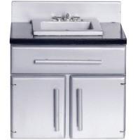 Modern Dollhouse Kitchen Sink - Product Image