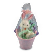 (**) Dollhouse Filled Wrapped Easter Pail - Product Image