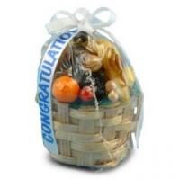 (*) Dollhouse Wrapped Fruit Basket Gift - Product Image