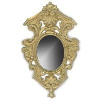 Dollhouse Gold Shell Mirror - Product Image