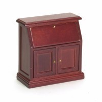 Dollhouse Small Mahogany Secretary - Product Image