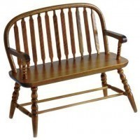 Dollhouse Colonial Windsor Bench - Product Image